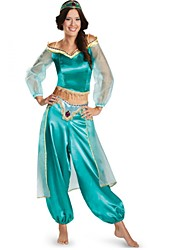 cheap -Princess Jasmine Cosplay Costume Masquerade Female Christmas Halloween Carnival New Year Oktoberfest Festival / Holiday Halloween Costumes