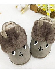 cheap -Girls' Shoes Cotton Fall Winter Comfort Slippers & Flip-Flops For Casual Khaki Green Purple Gray