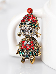 Women's Brooches Cute Style Personalized Rhinestone Alloy Jewelry For Gift Christmas