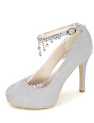 economico -Per donna Scarpe Brillantini Primavera / Estate Decolleté scarpe da sposa A stiletto Punta tonda Con diamantini Argento / Rosso / Blu