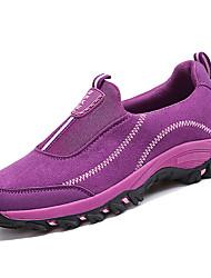 preiswerte -Damen Schuhe PU Frühling Herbst Komfort Sportschuhe Walking für Draussen Orange Grau Purpur Rot Blau