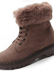 Women's Shoes Rubber Winter Combat Boots Boots Round Toe For Outdoor Khaki Green Black