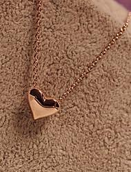 Недорогие -Жен. Ожерелья с подвесками - Сердце Золотой, Серебряный Ожерелье Назначение Для вечеринок, Повседневные