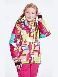 cheap -Girls' Ski Jacket Waterproof, Thermal / Warm, Windproof Skiing / Ski / Snowboard Fiber, Polyster Down Jacket / Tracksuit Ski Wear