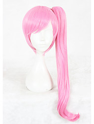 cheap -Synthetic Wig kinky Straight Pink Women's Capless Cosplay Wig Medium Synthetic Hair