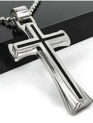 Недорогие -Муж. / Жен. Ожерелья с подвесками  -  Крест Серебряный Ожерелье Назначение Повседневные