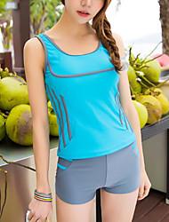 cheap -Women's Solid Color Bikini Swimwear Blue White Fuchsia