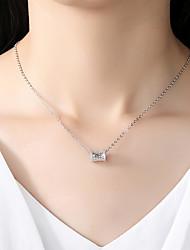 cheap -Women's Cubic Zirconia Rhinestone Cubic Zirconia Silver Pendant Necklace - Vintage Elegant Silver Necklace For Wedding Evening Party