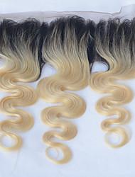 Недорогие -Классика 4X13 Закрытие Натуральные волосы Бесплатный Часть Высокое качество Повседневные