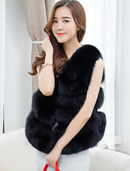 cheap -Sleeveless Faux Fur Wedding Party / Evening Women's Wrap Vests