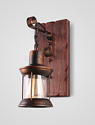 cheap -Rustic/Lodge Vintage Traditional/Classic Country Wall Lamps & Sconces For Indoor Metal Wall Light 220V 110V 60W