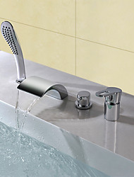 cheap -Bathtub Faucet - Contemporary Modern Style Chrome Widespread