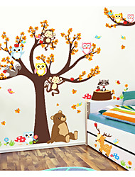 cheap -Animals Animal Fashion Wall Stickers 3D Wall Stickers Decorative Wall Stickers,Paper Material Home Decoration Wall Decal