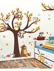 abordables -Animaux Mode Stickers muraux Autocollants muraux 3D Autocollants muraux décoratifs, Papier Décoration d'intérieur Calque Mural Mur