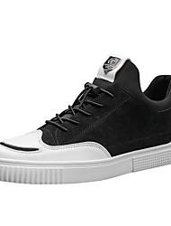 Herrer Sko Syntetisk Mikrofiber PU Net Forår Efterår Lysende såler Sneakers Til Afslappet Sort Grå Kakifarvet