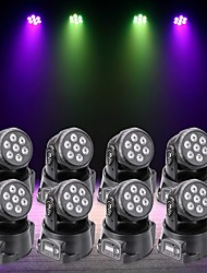 cheap -U'King 8pcs LED Stage Light / Spot Light DMX 512 Master-Slave Sound-Activated Auto 70 for Outdoor Party Stage Wedding Club Professional