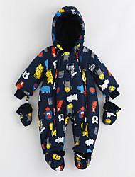 economico -Bambino Intero Cotone Pop art Inverno Manica lunga Blu marino