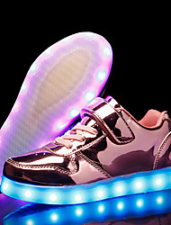 Girls' Shoes PU Fall Winter Light Up Shoes Sneakers LED For Casual Party & Evening Blushing Pink Silver Gold