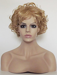 cheap -Women Synthetic Wig Capless Short Kinky Curly Light Blonde With Bangs Party Wig Natural Wigs Costume Wig