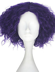 cheap -Synthetic Wig Kinky Curly Purple Men's Capless Carnival Wig Halloween Wig Party Wig Lolita Wig Natural Wigs Cosplay Wig Short Synthetic