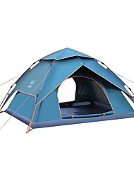 3-4 persons Tent Double Camping Tent One Room Automatic Tent Mountaineering Folding for Camping / Hiking / Caving Camping & Hiking