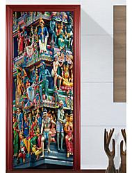 Architecture Bande dessinée Paysage Stickers muraux Autocollants avion Autocollants muraux 3D Autocollants muraux décoratifs Autocollants