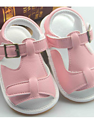 Baby Shoes Leatherette Spring Fall Comfort First Walkers Sandals For Casual Pink Black White Gold