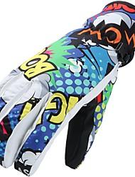 preiswerte -Skihandschuhe Unisex Vollfinger warm halten Wasserdicht Windundurchlässig Atmungsaktiv Wasserdichtes Material Skifahren Wandern Radsport