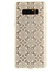 cheap -Case For Samsung Galaxy Note 8 Ultra-thin Transparent Pattern Back Cover Lace Printing Soft TPU for Note 8 Note 5 Edge Note 5 Note 4 Note