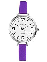 cheap -Women's Quartz Wrist Watch Chinese Large Dial Silica Gel Band Casual Colorful Elegant Black White Blue Red Orange Brown Green Pink Purple