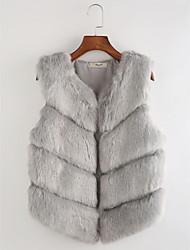 cheap -Women's Vest - Solid Colored Striped V Neck
