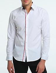 Pánské Jednobarevné Běžné/Denní Aktivní Šik ven Košile Bavlna Polyester Košilový límec Dlouhý rukáv