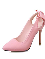 baratos -Mulheres Sapatos Flanelado Primavera Verão Sapatos clube Saltos Salto Agulha Dedo Apontado Laço para Escritório e Carreira Social Festas
