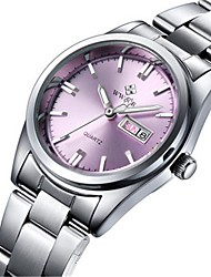 cheap -Women's Wrist Watch Calendar / date / day Stainless Steel Band Casual / Fashion / Elegant