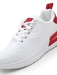 baratos -Mulheres Sapatos Borracha Inverno Conforto Tênis Sem Salto Ponta Redonda Branco / Preto / Rosa claro
