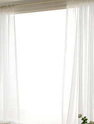 cheap -Grommet Top Double Pleat Pencil Pleat Curtain Contemporary Casual , Solid Solid Bedroom Polyester Material Sheer Curtains Shades Home