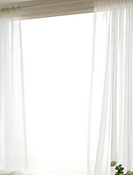 economico -Ad anello A piega doppia A piega singola Trattamento finestra Moderno Casual , Tinta unita Tinta unita Camera da letto Tessuto sintetico