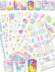 Недорогие -12pcs/set Наклейка для переноса воды / Наклейка для ногтей Наклейки для ногтей / Аксессуары для инструментов Nail Art DIY Наклейки / Дизайн ногтей
