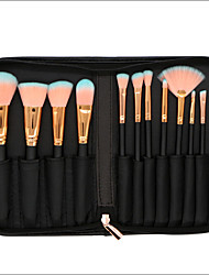 cheap -12pcs Professional Makeup Brushes Makeup Brush Set Synthetic Hair Full Coverage Wood Face