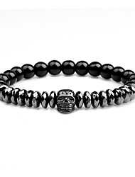 cheap -Men's Strand Bracelet Rock Gothic Agate Circle Jewelry For Going out