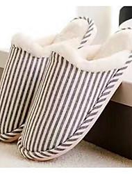 Women's Shoes Polyamide fabric Cotton Winter Fall Comfort Slippers & Flip-Flops For Casual Burgundy Khaki Coffee Dark Blue