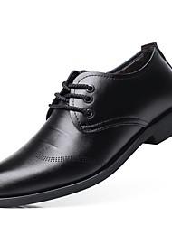 Pánské Obuv PU Jaro Podzim Společenské boty Oxfordské Pro Svatební Party Černá Hnědá