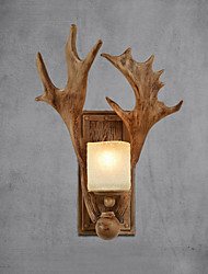 cheap -Rustic/Lodge Country Wall Sconces For Glass Wall Light 220V 40W