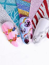 Недорогие -Стикер искусства ногтя Наклейки Инструменты сделай-сам Наклейка для фольги Стикер макияж Косметические Ногтевой дизайн