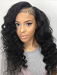 cheap -Women Synthetic Wig L Part Long Curly Dark Black With Baby Hair Halloween Wig Natural Wigs Costume Wig