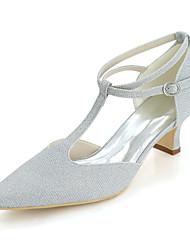 Dámské Boty Třpytky Jaro Léto Pohodlné Svatební obuv Čtvercová špička Pro Svatební Party Zlatá Černá Stříbrná Červená Modrá