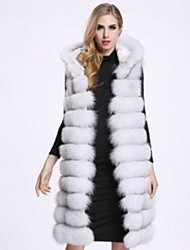 cheap -Women's Basic Plus Size Loose Fur Coat-Solid Colored