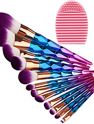 cheap -12pcs Makeup Brushes Professional Makeup Brush Set Synthetic Hair / Artificial Fibre Brush Eco-friendly / Professional / Full Coverage Plastic