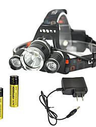 tanie Reflektory-RJ-3000 Czołówki Ładowarki Reflektor LED 4000 lm 4.0 Tryb Cree XM-L T6 Akumulator Strike Bezel na Obóz/wycieczka/alpinizm jaskiniowy