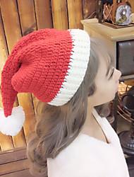 Для женщин Очаровательный На каждый день Широкополая шляпа,Зима Вязанная Один цвет Стильные